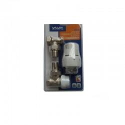 Set robineti tur retur cu cap termostatic Valvex - 1/2
