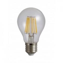 Bec Filament E27, model A60, 10W 100W, 6500K, lumina rece
